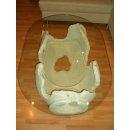 Ovaler Glastisch Couchtisch Steinmöbel Amphorentisch Vasentisch Versa Serie