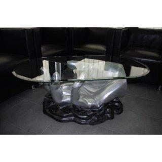 Ovaler Handtisch Glastisch Couchtisch Wohnzimmertisch Tisch Moderner Designer