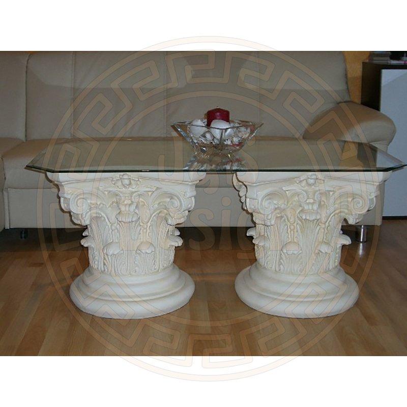 glastisch wohnzimmertisch couchtisch steinm bel barocktisch r ou. Black Bedroom Furniture Sets. Home Design Ideas