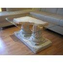 Couchtisch Wohnzimmertisch Glastisch Säulentisch...