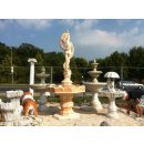 Steinbrunnen Springbrunnen Kaskade Zierbrunnen Brunnen Wasserspiel Gartenbrunnen (Terracotta)