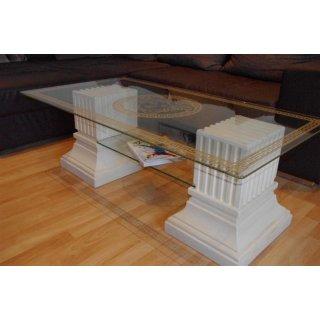 Couchtisch Steinmöbel Wohnzimmertisch Versa Serie Glastisch Beistelltisch Fossil