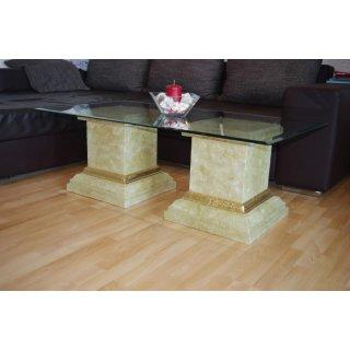 Antiker Wohnzimmertisch Couchtisch Marmortisch Steintisch Glastisch Höhe: 45cm