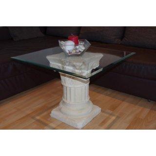Glastisch 70cmx70cm Couchtisch Beistelltisch Wohnzimmertisch Blumenständer Antik