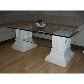 Rechteckiger Glastisch Couchtisch Steintisch Wohnzimmertisch 125cmx50cm Milano