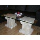 Glastisch Beistelltisch Couchtisch Römertisch Säulentisch 125cmx50cm Barock