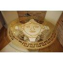 Antiker Runder Glas Esstisch Küchentisch Römischer Barock Medusa Versa Serie