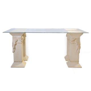 Esstisch Esstische Tafeltisch Glas Tisch Steinmöbel Fossilmöbel Esszimmertisch