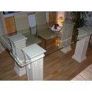 Esstisch Tafeltisch Schreibtisch Glastisch Esszimmertisch Küchentisch Säulen