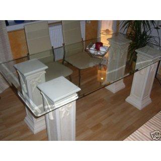 glas esstisch good esstisch savona edelstahl glas ud. Black Bedroom Furniture Sets. Home Design Ideas