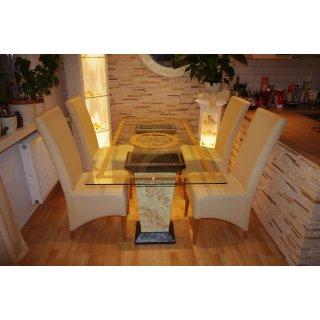 Glastisch Esstisch Medusa Küchentisch Tafeltisch Versa Serie Marmortisch 180cm