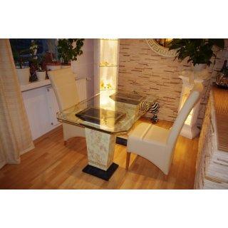 Glastisch Esstisch Medusa Küchentisch Tafeltisch  Versa Serie Marmortisch 140cm