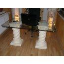 Bürotisch Computertisch Schreibtisch Nageltisch Manikürtisch Esstisch Säulen