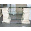 TV-Rack Regal Fernsehtisch Fernsehschrank Glasregal Sideboard Hifiregal Phono