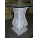 Runder Glas Tisch Beistelltisch Telefontisch Blumenständer Säule Nachttisch