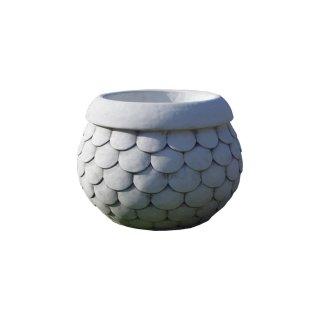 2 x runde Pflanzschale Blumentopf Griechische Blumenkübel Terrassen Pflanzkübel