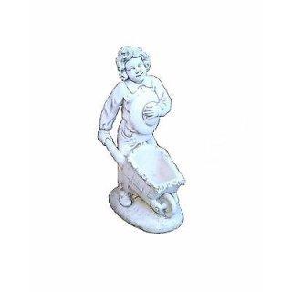 Gartenfigur Steinfigur Pflanzschale Pflanzkübel Kinderfiguren Dekofigur Figur