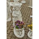 2x Gartenfiguren Set Steinfigur Pflanzschale...