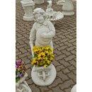 2x Gartenfiguren Set Steinfigur Pflanzschale Pflanzkübel Blumentopf Blumenschale