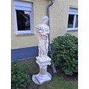 Griechische Blumenfrau Frauenskulptur Gartenfigur Steinfigur Gartenfigur H:177cm