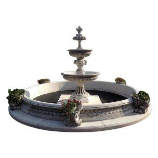 Mega Springbrunnen Fontänenbrunnen Zierbrunnen Gartenbrunnen Stein Höhe: 280cm