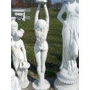 Nackte Griechische Steinfigur Brunnenfigur Gartenfigur Skulptur Teichfontäne
