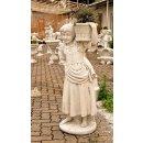 Steinfigur Pflanzschale Pflanzkübel Gartenfigur Höhe: 109cm