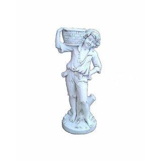 Steinfigur Pflanzschale Pflanzkübel Gartenfigur Steinfigur Höhe: 111cm