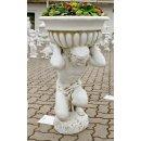 Steinfigur Pflanzschale Pflanzkübel Gartenfigur Atlas Höhe: 88cm