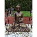 Sitzender Thai Buddha Gottheit Statue Gartenfigur Feng Shui