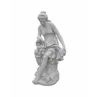 Antike Griechische Blumenfrau Göttin Frauen Statue Gartenfigur