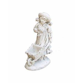 Steinfigur Gartenfigur Kinder Mädchenfigur Pflazschale Pflanzkübel Höhe: 90cm - 82KG