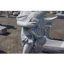Frauenfigur Skulptur Gartenfigur Griechische Steinfigur Höhe: 160cm Weiß Grau
