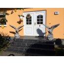 2 x Lebensgroße XXL Adler Gartenfigur Steinfigur...