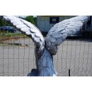 2 x Lebensgroße XXL Adler Gartenfigur Steinfigur Höhe: 106cm Gewicht: 196KG
