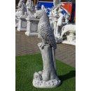 2 x Papageien Figuren Steinfiguren Vogelfiguren Ara Kakadu Garten Tierfiguren