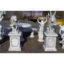 1 x Löwe links 1 x rechts schauend + 2 x Säulensockel Gesamtöhe: 131cm