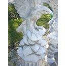 XXL Adler mit Säulen Sockel Höhe: 232cm Gesamtgewicht: 293KG