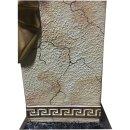 Griechische Blumensäule Blumenständer Marmor Säule Beige Versa Serie H: 65cm