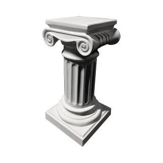 Antike Säule Standsäule Blumensäule Marmorsäule Blumenständer Weiß-Matt H: 70cm