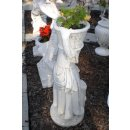 2 x Gartenfiguren Set Steinfigur Pflanzschale Pflanzkübel Dekofigur Gartenfigur