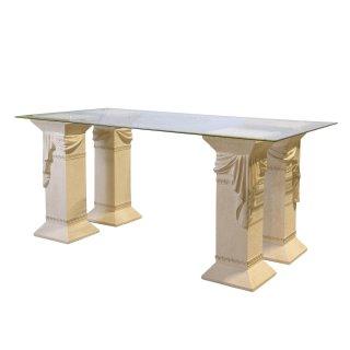 Versa Serie Esstisch Küchentisch Steinmöbel Tafeltisch Glasesstisch Medusa 180cm