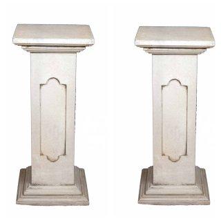Antikes Wohndesign Spar-Set 2 x Steinsäule Sockelsäule Griechische Blumensäule Gartensäule 180KG Höhe: 80cm