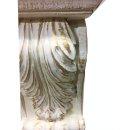 2 x Antike Wandkonsolen Wandkonsole Kaminkonsole Griechische Möbel Weiß-Gold