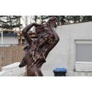 Steinfigur Frauen Statue Statue Teichfontäne Gartenfigur Terrassenfiguren+Sockel