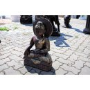 2 x Thai Buddha Kerzenhalter Bronze Optik Garten Buddha...