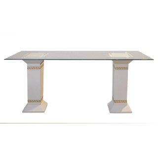Griechischer Esstisch Küchentisch Steinmöbel Tafeltisch Antik Glasesstisch Antik