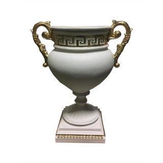 Griechische Vase Pokalvase Versa Serie Blumenschale Pokalschale Henkel Vase