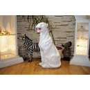 Panther Berglöwe Raub Katze Puma Dekofigur Jaguar Lebensgroße Tierfiguren Weiß