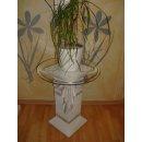 Runder Glas Tisch Beistelltisch Telefontisch Blumen Deko Stand Säule Versa Serie